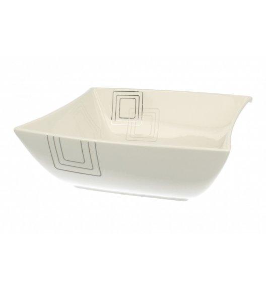 DUO KWADRATY Salaterka 24 cm. Porcelana wysokiej jakości.