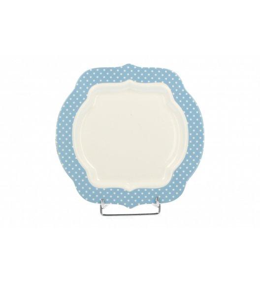 DUO RETRO BLUE Talerz deserowy. Porcelana wysokiej jakości.