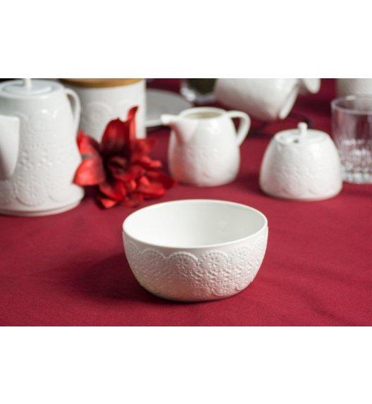 DUO KORONKA Miska 700 ml. Porcelana wysokiej jakości.