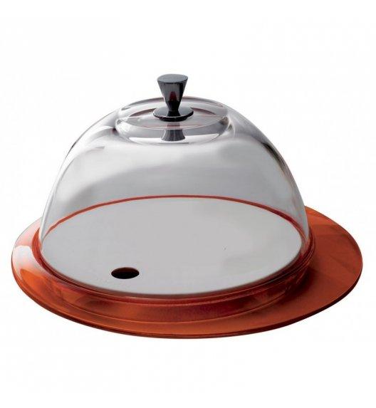 BUGATTI GLAMOUR Patera na ciasto 30 cm ze szklaną pokrywą POMARAŃCZOWY