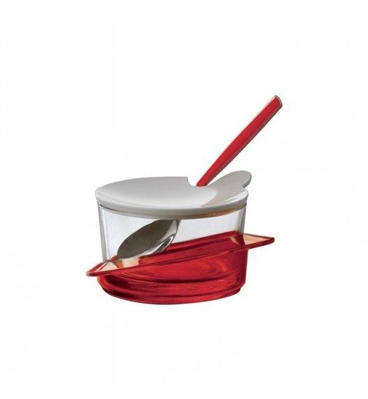 BUGATTI GLAMOUR Cukiernica z lyżeczką, solidnie wykonana, nowoczesny design CZERWONY
