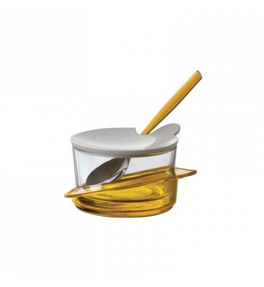 BUGATTI GLAMOUR Cukiernica z lyżeczką, solidnie wykonana, nowoczesny design ŻÓŁTY