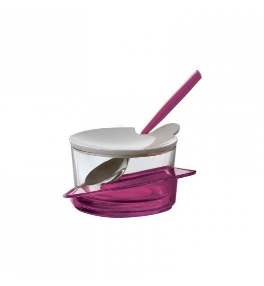 BUGATTI GLAMOUR Cukiernica z lyżeczką, solidnie wykonana, nowoczesny design FIOLETOWY