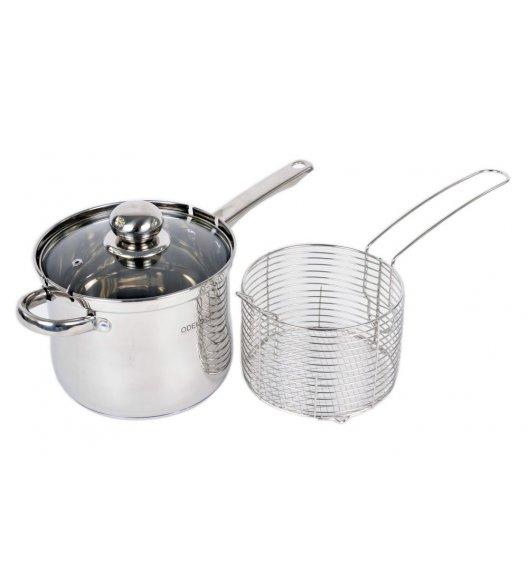 ODELO Rondelek stalowy do gotowania oraz głębokiego smażenia z sitkiem INDUKCJA OD1301