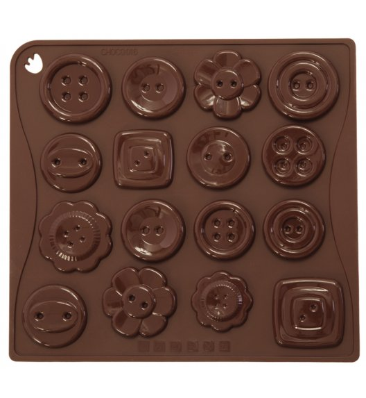PAVONIDEA BOTTONE forma na czekoladowe pralinki, 16 wzorów /Btrzy
