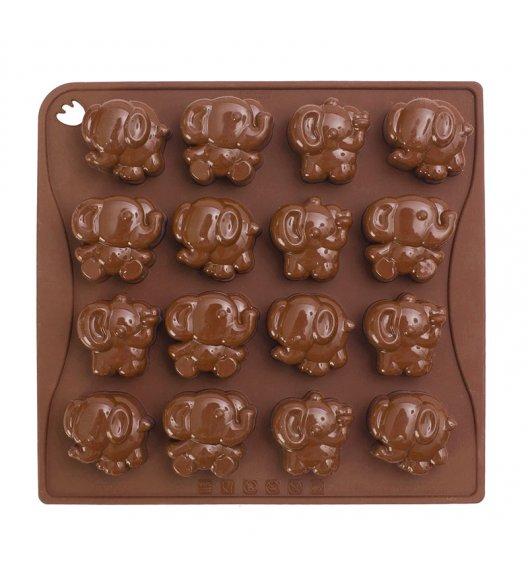PAVONIDEA ELEPHANT forma na czekoladowe pralinki, 16 wzorów /Btrzy