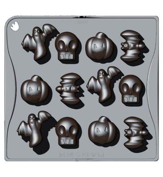 PAVONIDEA HALLOWEEN forma na czekoladowe pralinki, 12 wzorów /Btrzy
