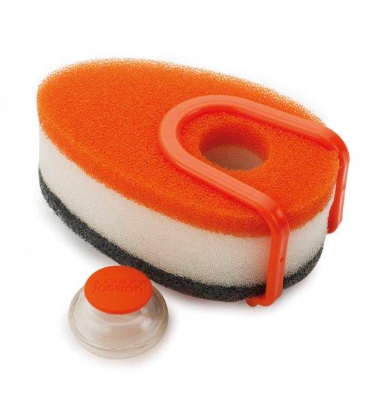 Joseph Joseph, Zestaw gąbek do mycia naczyń z dozownikiem, pomarańczowy / Btrzy