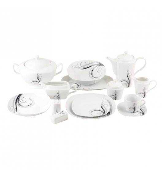 TADAR DOLCE VITA Serwis obiadowo-kawowy 73 el / 12 osób / porcelana