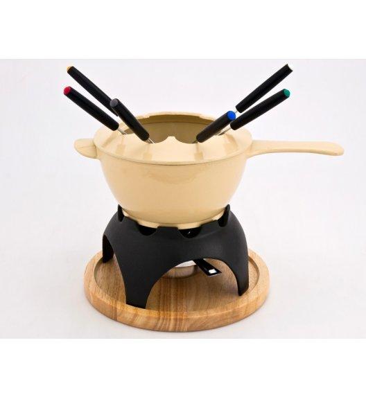 Zestaw fondue żeliwny emaliowany MIXTE, waniliowy krem 1004-00