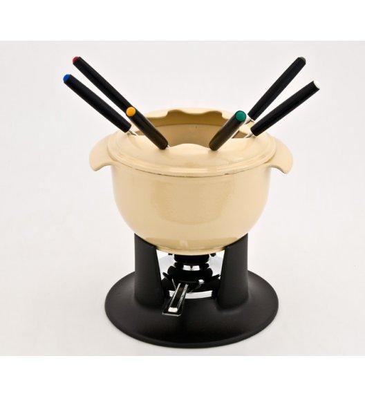 Zestaw fondue żeliwny emaliowany TULIPE, waniliowy krem 1010-10