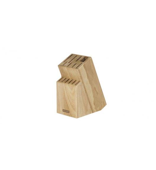 Drewniany blok na 13 noży, nożyce i ostrzałkę Tescoma Woody.
