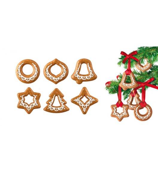 Tescoma Foremki do wykrawania, ozdoby bożonarodzeniowe DELICIA, 6 szt. 2 wstążki