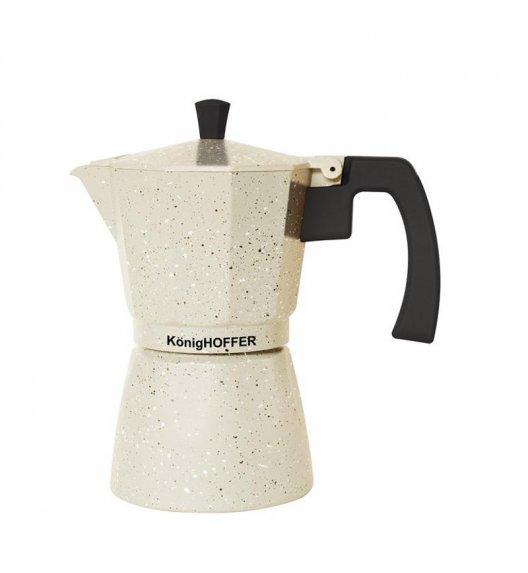 KÖNIGHOFFER Kawiarka Vanilla Marble 450 ml - 9 filiżanek INDUKCJA