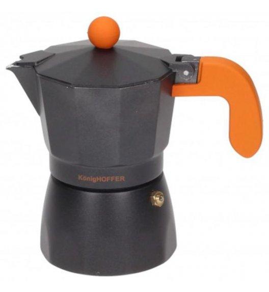KÖNIGHOFFER Kawiarka Black Americano Pomarańczowa 450 ml - 9 filiżanek