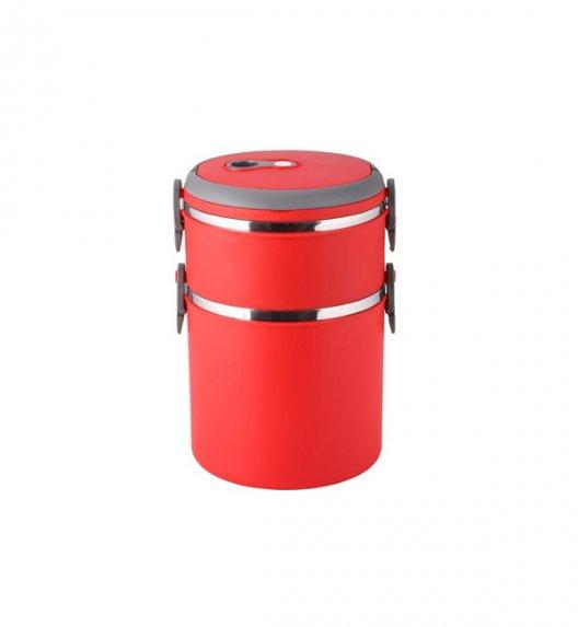 TADAR Pojemnik obiadowy 2-warstwowy Pasto 2,7 L czerwony