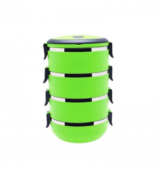 TADAR Termos obiadowy 4-warstwowy 2,8 L zielony / czworak obiadowy