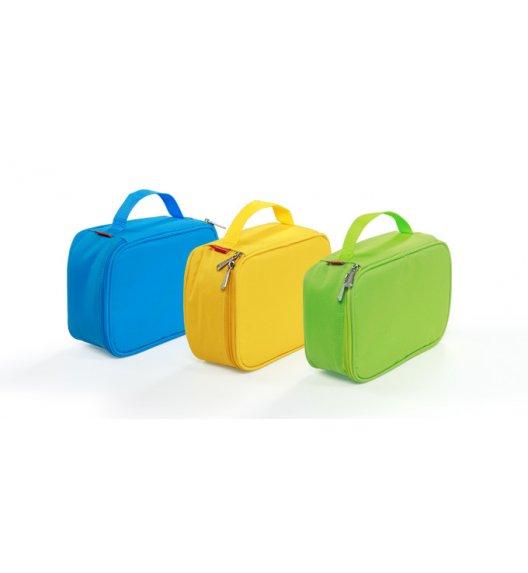 WYPRZEDAŻ! Torba termoizolacyjna z pojemnikiem Tescoma Coolbag w kolorze żółtym + wkład chłodzący. Zobacz film.