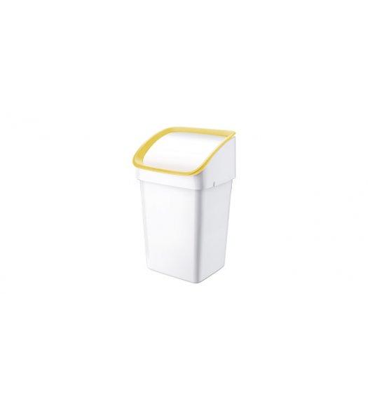 WYPRZEDAŻ! TESCOMA CLEAN KIT kosz na śmieci 21 l dla worków 40 l. ŻÓŁTY.