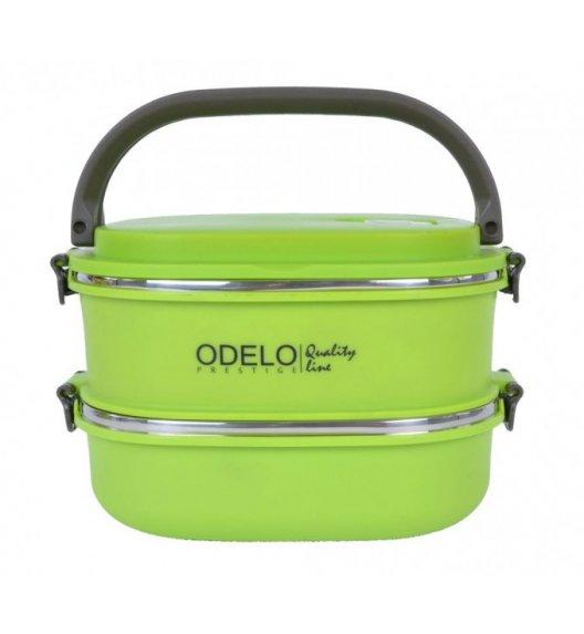 WYPRZEDAŻ! ODELO Pojemnik na żywność dwukomorowy Lunchbox Zielony OD1291