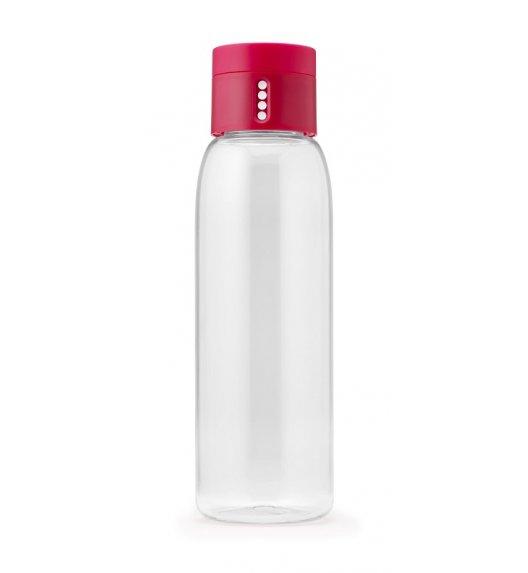 JOSEPH JOSEPH DOT Butelka na wodę różowa zakrętka 600 ml / wskaźnik ilości spożycia / Btrzy