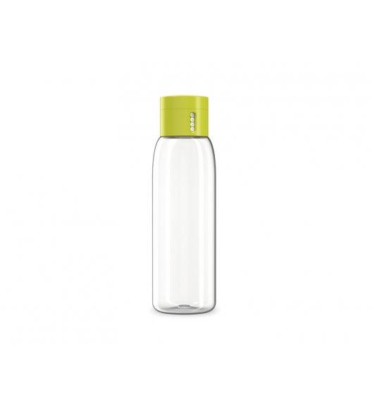 JOSEPH JOSEPH DOT Butelka na wodę zielona zakrętka 600 ml / wskaźnik ilości spożycia / Btrzy