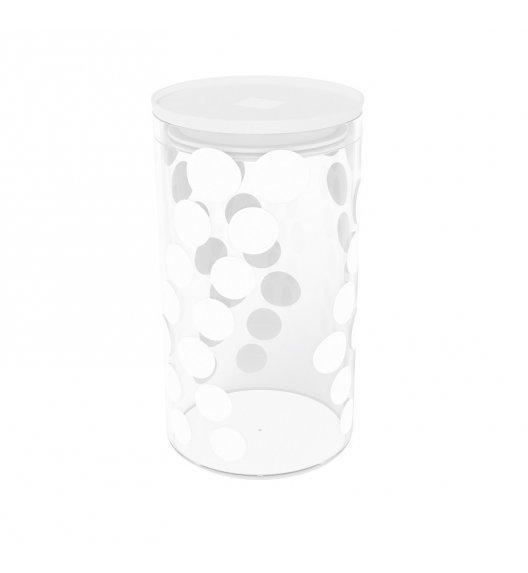 ZAK! DESIGNS Szklany pojemnik z pokrywką, białe kropki 1,1 L / Btrzy