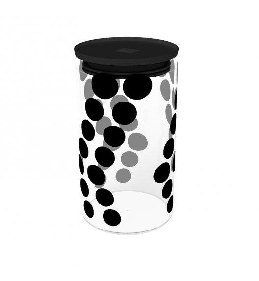 ZAK! DESIGNS Szklany pojemnik z pokrywką, czarne kropki 1,1 L / Btrzy