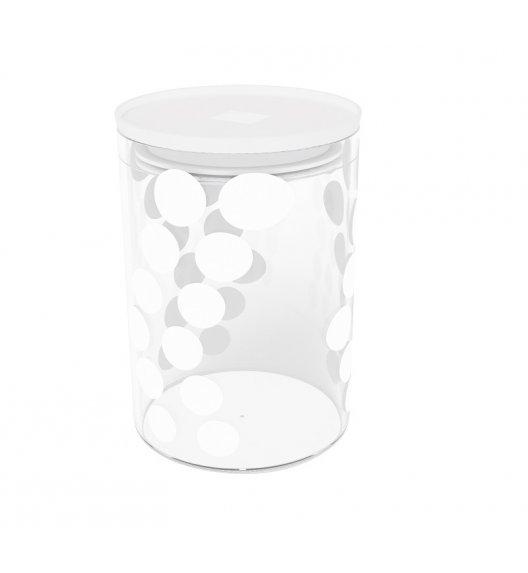 ZAK! DESIGNS Szklany pojemnik z pokrywką, biały w kropki 0,9 L / Btrzy