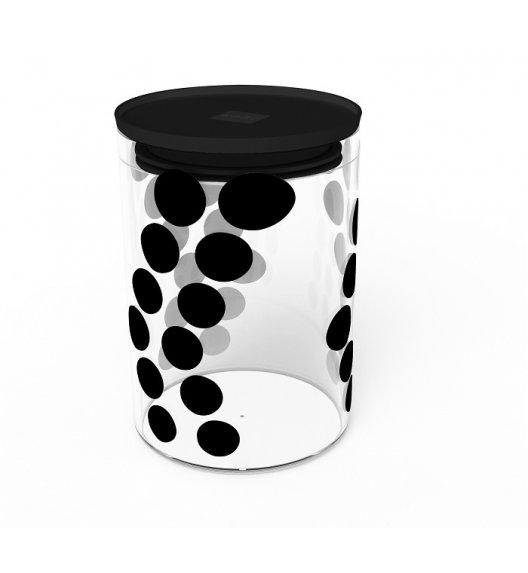 ZAK! DESIGNS Szklany pojemnik z pokrywką, czarne kropki 0,9 L / Btrzy