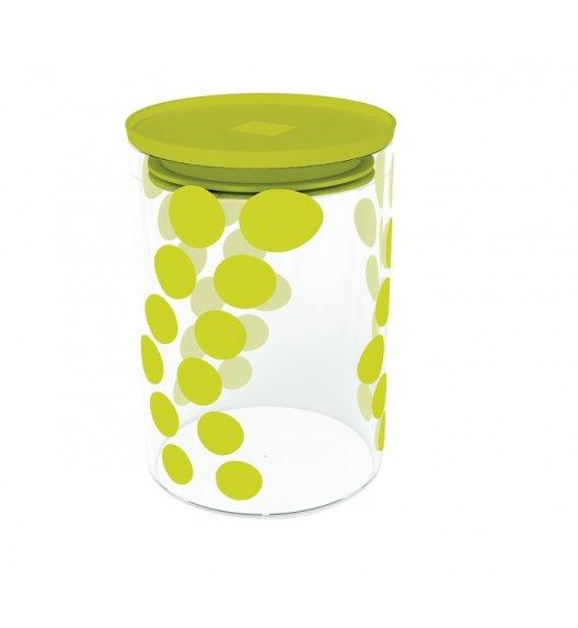 ZAK! DESIGNS Szklany pojemnik z pokrywką, zielone kropki 0,9 L / Btrzy