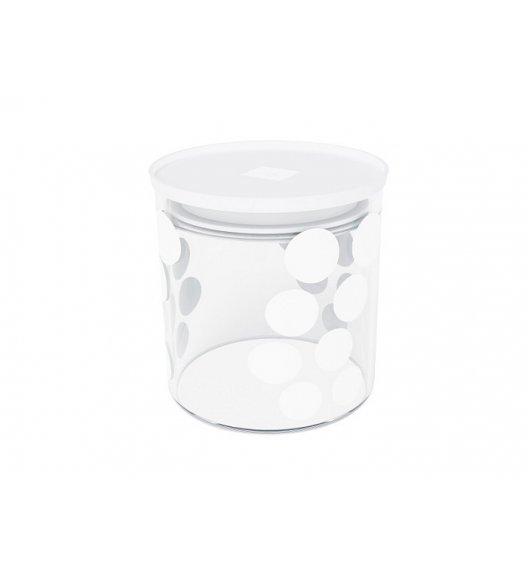 ZAK! DESIGNS Szklany pojemnik z pokrywką, białe kropki 0,65 L / Btrzy