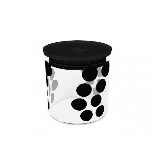 ZAK! DESIGNS Szklany pojemnik z pokrywką, czarne kropki 0,65 L / Btrzy