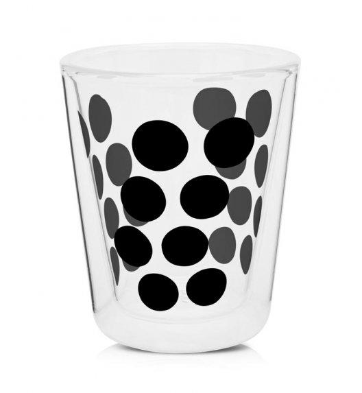 ZAK! DESIGNS Szklanka z podwójnymi ściankami, czarne kropki, 200 ml / Btrzy