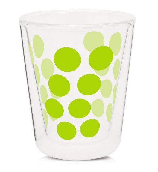 ZAK! DESIGNS Szklanka z podwójnymi ściankami, zielone kropki, 200 ml / Btrzy