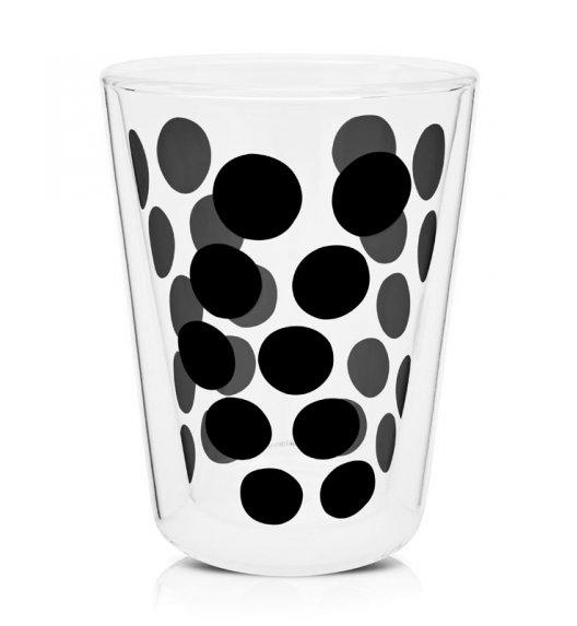 ZAK! DESIGNS Szklanka z podwójnymi ściankami, czarne kropki, 350 ml / Btrzy