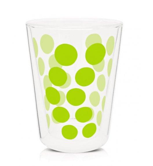 ZAK! DESIGNS Szklanka z podwójnymi ściankami, zielone kropki, 350 ml / Btrzy