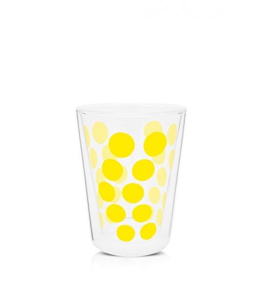 ZAK! DESIGNS Szklanka z podwójnymi ściankami, żółte kropki, 350 ml / Btrzy