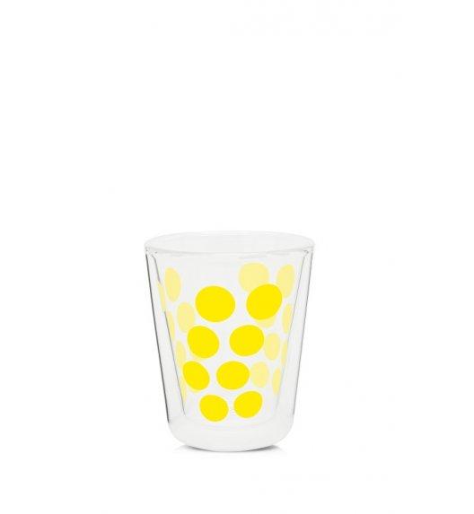 ZAK! DESIGNS Szklanka z podwójnymi ściankami, żółte kropki, 200 ml / Btrzy