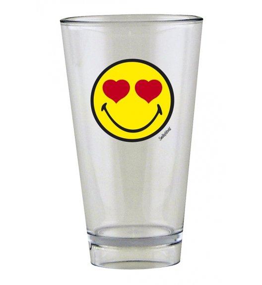 ZAK! DESIGNS Szklanka Smiley, ze znaczkiem LOVE na zimne napoje, 300 ml / Btrzy