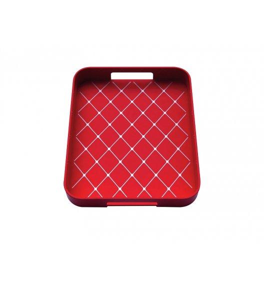 ZAK! DESIGNS Prostokątna taca do serwowania, czerwona / Btrzy
