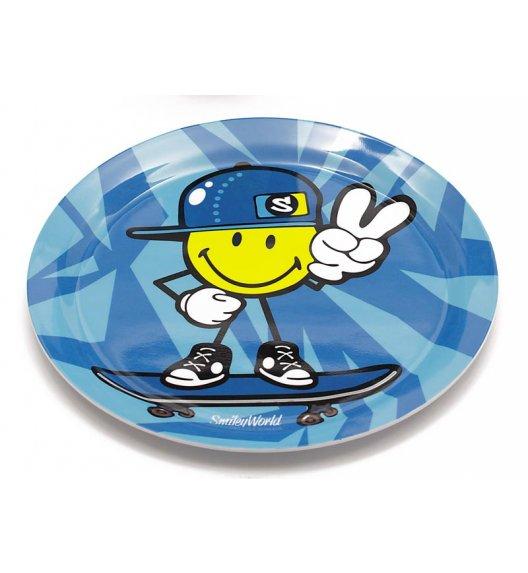 ZAK! DESIGNS Smiley Kid Talerzyk z melaminy dla chłopczyka, niebieski /Btrzy