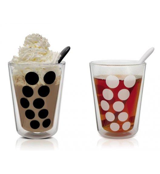 ZAK! DESIGNS Zestaw 2 szklanek + łyżeczki, kropki, 350 ml / Btrzy