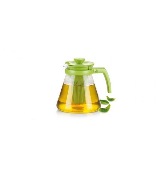 WYPRZEDAŻ! Czajnik/dzbanek Tescoma Teo Tone z wyjmowanymi sitkami w kolorze zielonym 1,25 l ZOBACZ FILM.