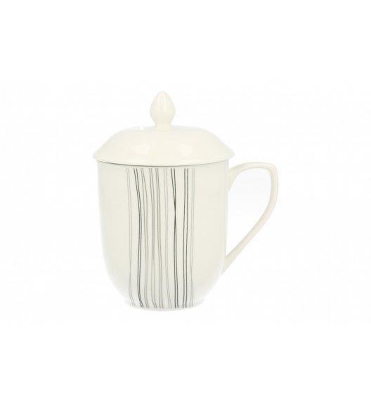 DUO SILVER LINE Kubek z zaparzaczem 230 ml Porcelana