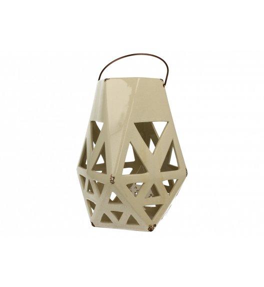 DUO Lampion ceramiczny Trójkąty 27,5 cm Kremowy