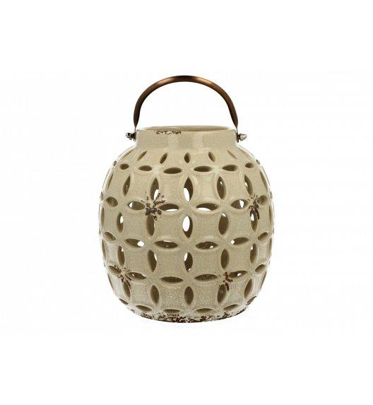 DUO Lampion ceramiczny Owal 17,8 cm Kremowy