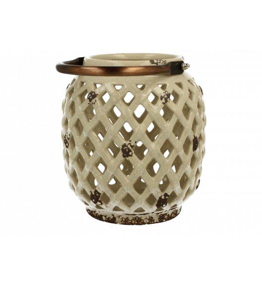 DUO Lampion ceramiczny Owal 16,7 cm Kremowy