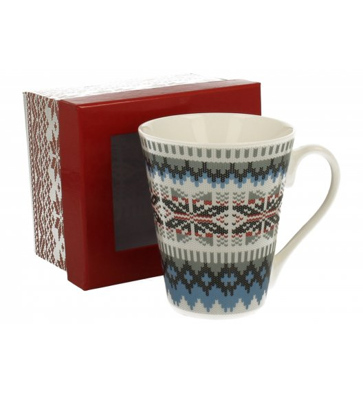 DUO VARIUS Kubek Sweterek niebieski 360 ml Porcelana wysokiej jakości