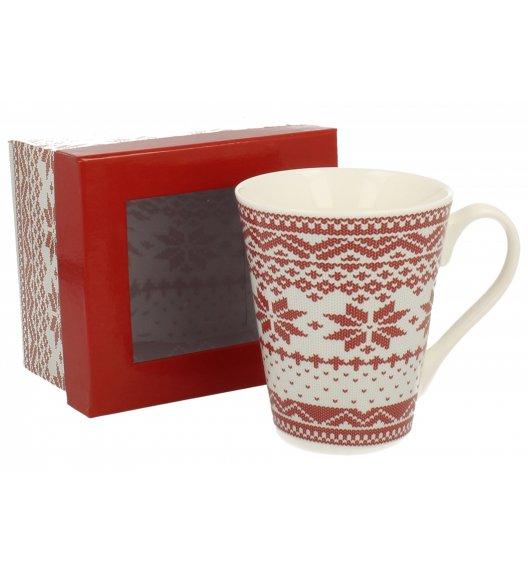 DUO VARIUS Kubek Sweterek czerwony 360 ml Porcelana wysokiej jakości